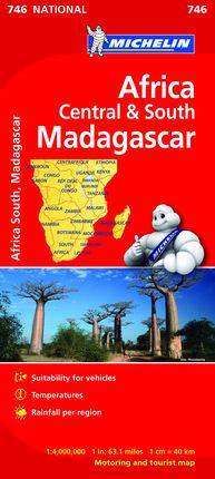 746 SUD-AFRIKA, MADAGASKAR 1:4.000.000 -MICHELIN