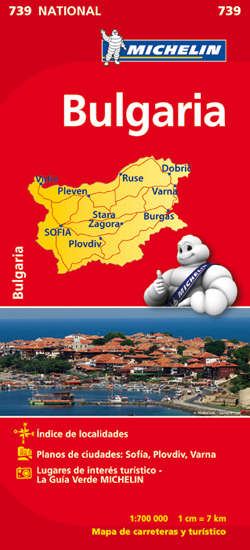 739 BULGARIA 1:700.000 -MICHELIN