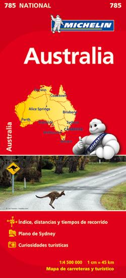 785 AUSTRALIA 1:4.500.000 -MICHELIN