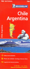 788 CHILE - ARGENTINA 1: 2.000.000 -MICHELIN