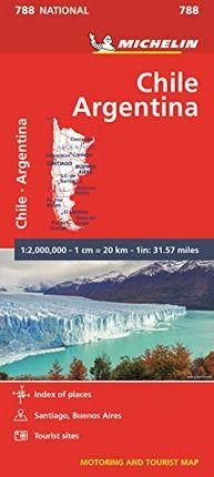 788 CHILE - ARGENTINA 1: 2.000.000 -MICHELIN
