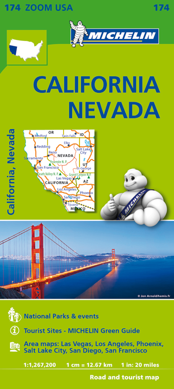 174 USA. CALIFORNIA - NEVADA 1:1.267.200 -MICHELIN ZOOM
