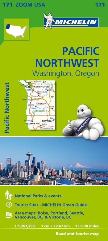 171 USA. PACIFIC NORTHWEST 1:1.267.000 -MICHELIN ZOOM