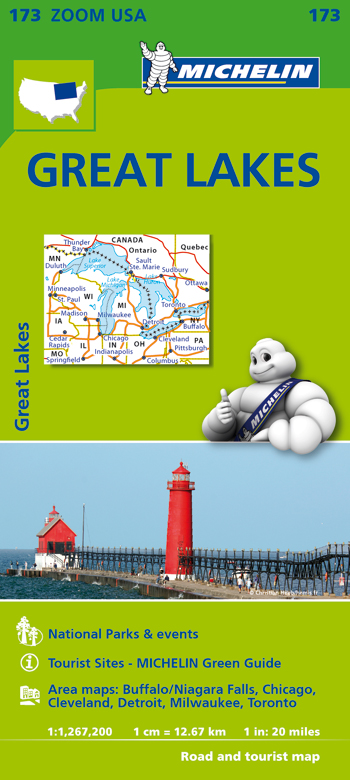 173 USA. GREAT LAKES 1:1.267.200 -MICHELIN ZOOM