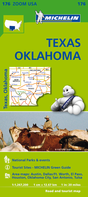 176 USA. TEXAS - OKLAHOMA 1:1.267.000 -MICHELIN ZOOM
