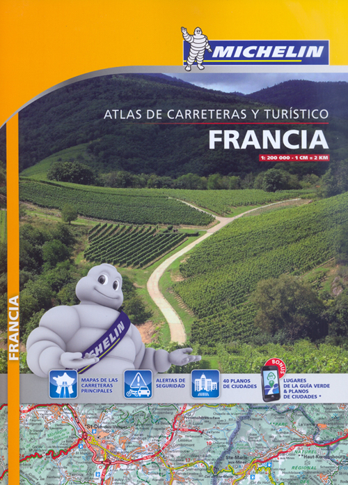 FRANCIA 1:200.000 ATLAS CARRETERAS [ESPIRAL] -MICHELIN