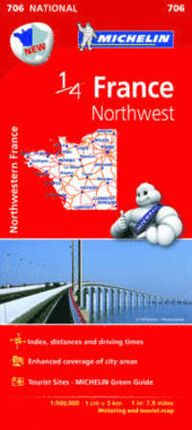 706 FRANCE NORTHWESTERN 1/4 1:500.000 -MICHELIN
