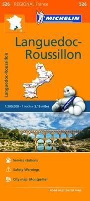 526 LANGUEDOC-ROUSSILLON 1:200.000- MICHELIN