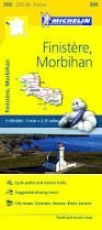 308 FINISTERRE, MORBIHAN 1:150.000- MICHELIN