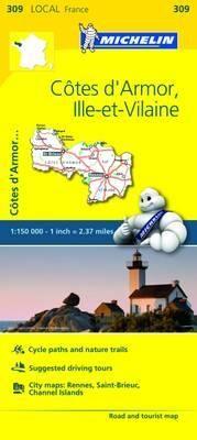 309 COTES-D'ARMOR, ILLE-ET-VILAINE 1:150.000- MICHELIN