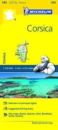 345 CORSICA/CORSE 1:150.000- MICHELIN