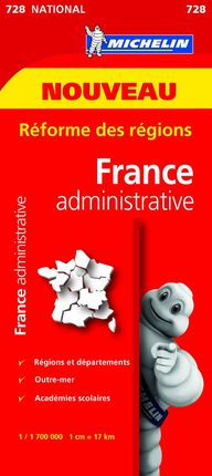 728 FRANCIE ADMINISTRATIVE 1:1.700.000- MICHELIN
