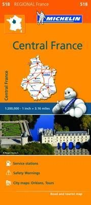518 CENTRAL FRANCE 1:200.000 -MICHELIN
