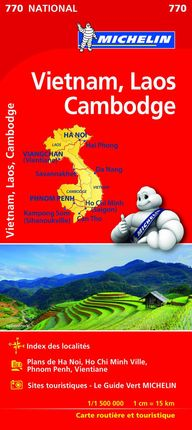770 VIETNAM, LAOS, CAMBODGE 1:1.500.000- MICHELIN