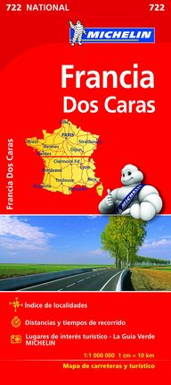 722 FRANCIA [DOBLE CARA] 1:1.000.000- MICHELIN