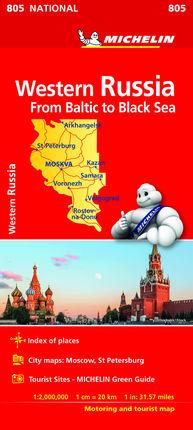 805 WESTERN RUSSIA 1:2.000.000 -MICHELIN