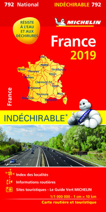 792 FRANCE 1:1.000.000 (INDECHIRABLE) -MICHELIN