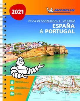 2021 ATLAS ESPAÑA & PORTUGAL. CARRETERAS Y TURISTICO -MICHELIN (A4)
