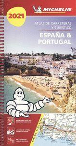 2021  ESPAÑA & PORTUGAL [ESPIRAL] ATLAS CARRETERAS Y TURISTICO -MICHELIN