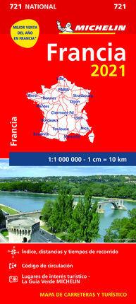721 FRANCIA 2021 1:1.000.000 -MICHELIN