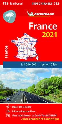 792 FRANCIA 2021 ALTA RESISTENCIA 1:1.000.000 -MICHELIN