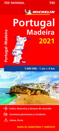 733 PORTUGAL, MADEIRA 2021 1:400.00 -MICHELIN