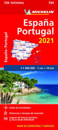 734 ESPAÑA PORTUGAL 2021 1:1.000.000 -MICHELIN