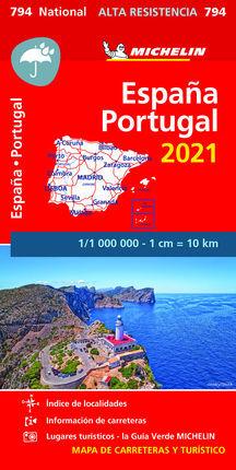 794 ESPAÑA - PORTUGAL  ALTA RESISTENCIA  2021 1:1.000.000 -MICHELIN