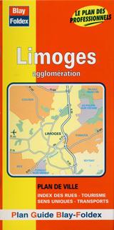 LIMOGES -PLAN DE VILLE -GUIDE BLAY FOLDEX