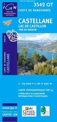 3542 OT CASTELLANE. LAC DE CASTILLON 1:25.000 -TOP