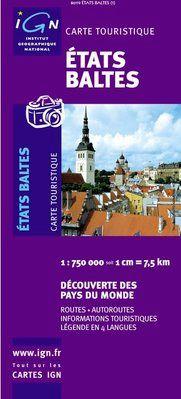ETATS BALTES 1:750.000 -IGN DECOUVERTE DES PAYS DU MONDE