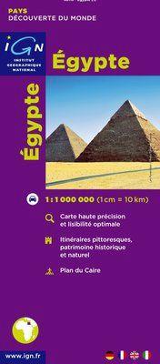 EGYPTE 1:1.000.000 -IGN DECOUVERTE DES PAYS DU MONDE