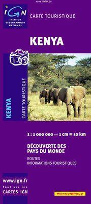 KENYA 1:1.000.000 -DÉCOUVERTE DES PAYS DU MONDE -IGN