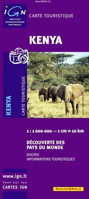 KENYA 1:1.000.000 -IGN DECOUVERTE DES PAYS DU MONDE