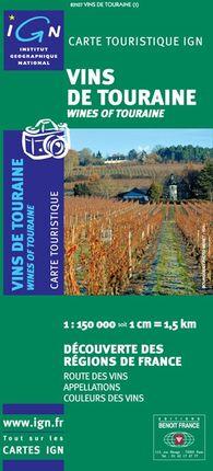 VINS DE TOURAINE 1:150.000 -IGN