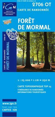 2706 OT FORÊT DE MORMAL 1:25.000 -TOP 25 IGN
