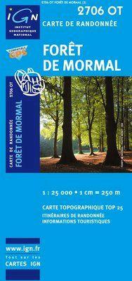 2706 OT FORET DE MORMAL 1:25.000 -TOP 25 IGN