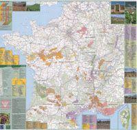 VINS DE FRANCE [POSTER-MURAL] 1:1.000.000 -IGN