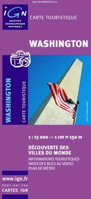 WASHINGTON 1:15.000 -IGN DECOUVERTE DES VILLES DU MONDE