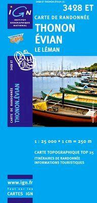 3428 ET THONON/EVIAN (LE LEMAN) 1:25.000 -TOP 25 IGN