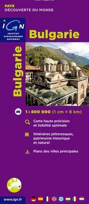 BULGARIE 1:800.000 -IGN DECOUVERTE DES PAYS DU MONDE