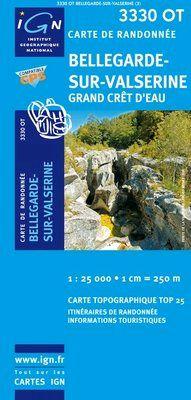 3330 OT BELLEGARDE -SU-VALSERINE 1:25.000 -TOP 25 IGN