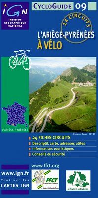 ARIEGE-PYRENEES A VELO, L' -CYCLOGUIDE 09 [FICHAS] -IGN