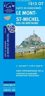 1215 OT LE MONT-ST-MICHEL 1:25.000 -TOP 25 IGN