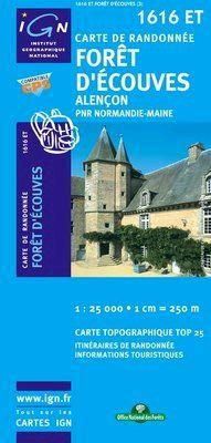 1616 ET FORET D'ECOUVES, ALENÇON 1:25.000 -TOP 25 IGN