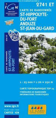 2741 ET ST-HIPPOLYTE-DU-FORT 1:25.000 -TOP 25 IGN