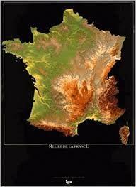 RELIEF DE LA FRANCE [POSTER] 1:1.400.000 -IGN
