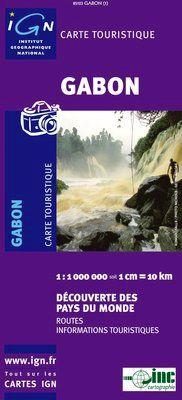 GABON 1:1.000.000 -DÉCOUVERTE DES PAYS DU MONDE -IGN
