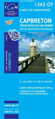 1343 OT CAPBRETON 1:25.000 -TOP 25 IGN