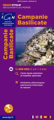 CAMPANIE-BASILICATE 1:200.000 -IGN DECOUVERTE DES REGIONS DU MONDE